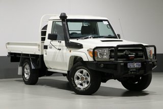 2015 Toyota Landcruiser VDJ79R MY12 Update GXL (4x4) White 5 Speed Manual Cab Chassis.