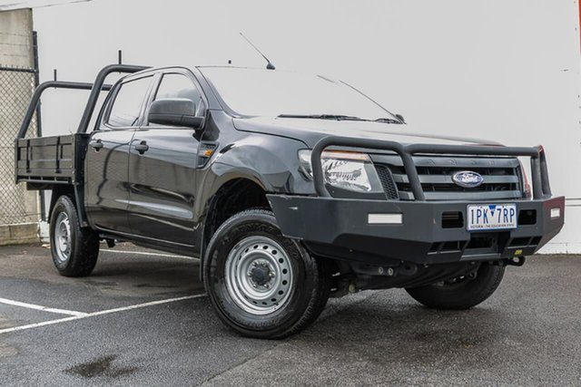 Used Ford Ranger PX XL Double Cab, 2013 Ford Ranger PX XL Double Cab Black 6 Speed Manual Cab Chassis
