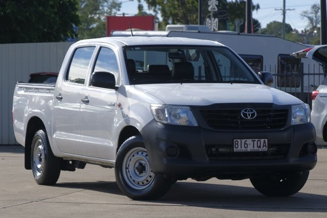 Used Toyota Hilux TGN16R MY14 Workmate Double Cab 4x2, 2014 Toyota Hilux TGN16R MY14 Workmate Double Cab 4x2 White 4 Speed Automatic Utility