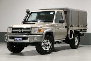 2014 Toyota Landcruiser VDJ79R MY12 Update GXL (4x4) Gold 5 Speed Manual Cab Chassis.