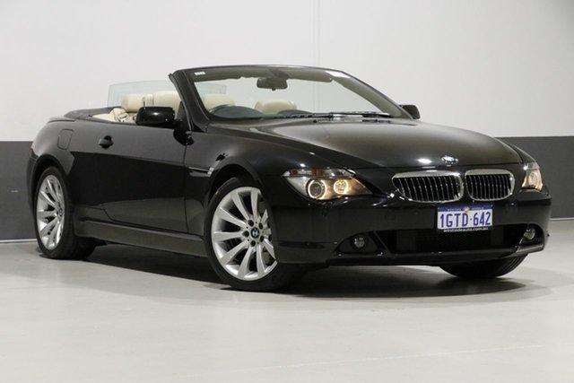 Used BMW 650Ci E63 , 2007 BMW 650Ci E63 Black 6 Speed Auto Steptronic Convertible