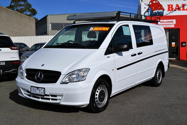 Used Mercedes-Benz Vito MY11 113CDI SWB, 2012 Mercedes-Benz Vito MY11 113CDI SWB White 5 Speed Automatic Van