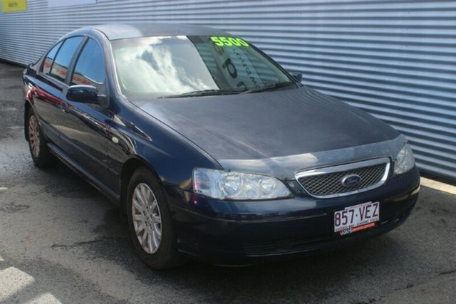 Used Ford Fairmont BA Ghia, 2004 Ford Fairmont BA Ghia Blue 4 Speed Automatic Sedan