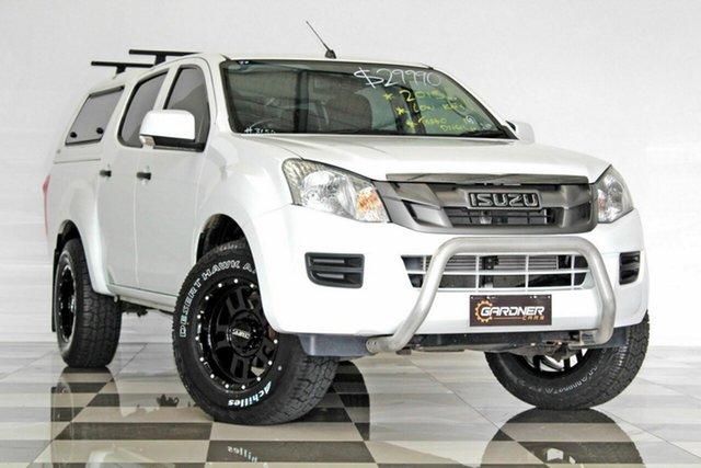 Used Isuzu D-MAX TF MY15 SX HI-Ride (4x2), 2015 Isuzu D-MAX TF MY15 SX HI-Ride (4x2) White 5 Speed Automatic Crew Cab Utility