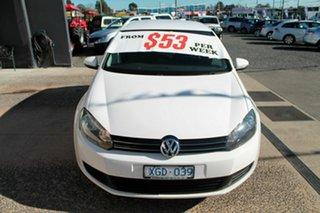 2009 Volkswagen Golf VI 118 TSI Comfortline White 7 Speed Automatic Hatchback.
