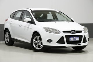 2013 Ford Focus LW MK2 Trend White 6 Speed Automatic Hatchback.