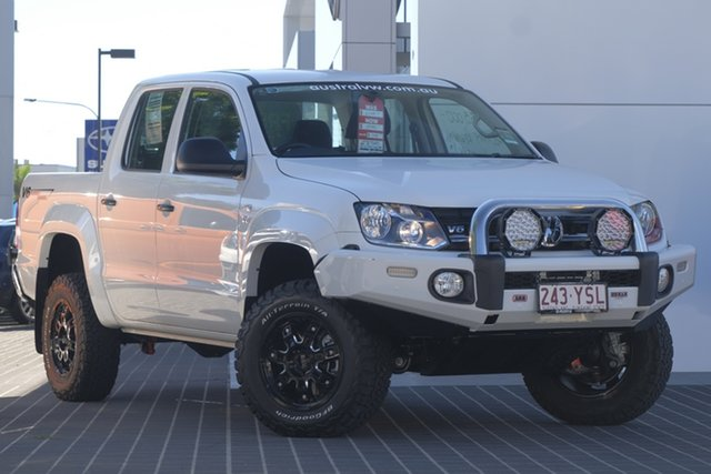 Demo Volkswagen Amarok 2H MY19 TDI550 4MOTION Perm Core, 2018 Volkswagen Amarok 2H MY19 TDI550 4MOTION Perm Core Candy White 8 Speed Automatic Utility