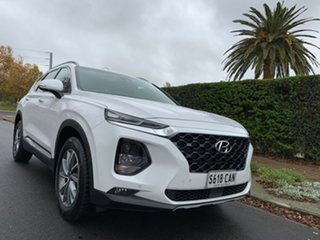 2018 Hyundai Santa Fe DM5 MY18 Elite White Cream 6 Speed Sports Automatic Wagon