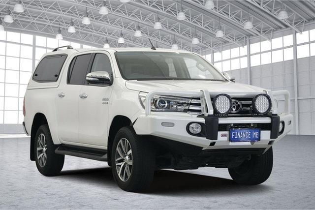 Used Toyota Hilux GUN126R SR5 Double Cab, 2016 Toyota Hilux GUN126R SR5 Double Cab White 6 Speed Sports Automatic Utility