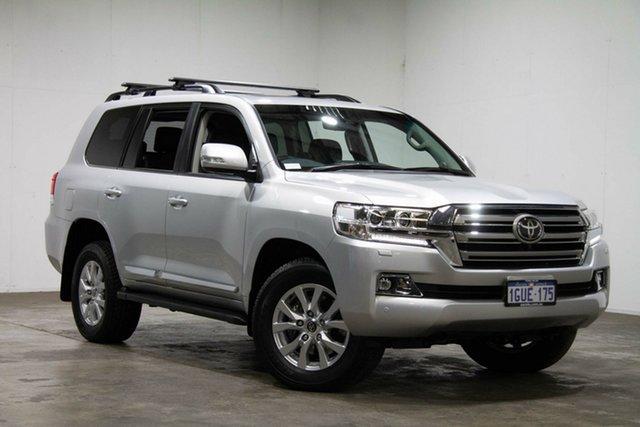 Used Toyota Landcruiser VDJ200R Sahara, 2018 Toyota Landcruiser VDJ200R Sahara Silver & Chrome 6 Speed Sports Automatic Wagon