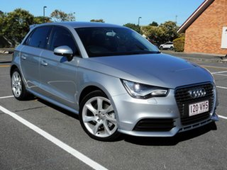 2014 Audi A1 8X MY14 Attraction Sportback S Tronic Silver 7 Speed Sports Automatic Dual Clutch.