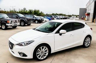2016 Mazda 3 BM5438 SP25 SKYACTIV-Drive GT Snowflake White 6 Speed Sports Automatic Hatchback.