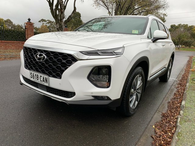 Demo Hyundai Santa Fe DM5 MY18 Elite, 2018 Hyundai Santa Fe DM5 MY18 Elite White Cream 6 Speed Sports Automatic Wagon