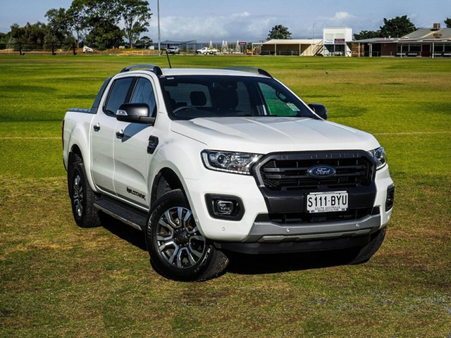 Demo Ford Ranger PX MkIII 2019.00MY Wildtrak Pick-up Double Cab, 2018 Ford Ranger PX MkIII 2019.00MY Wildtrak Pick-up Double Cab Arctic White 10 Speed