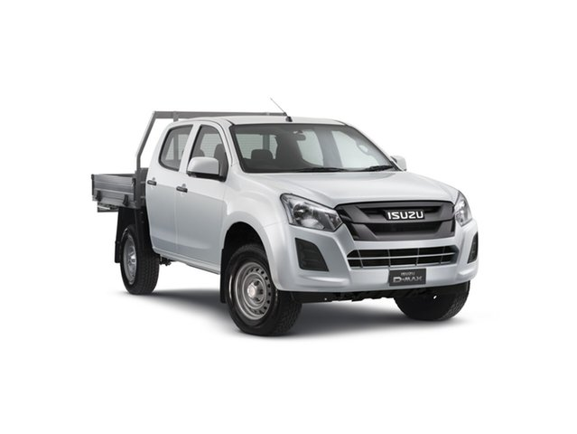 Demo Isuzu D-MAX MY18 SX Crew Cab, 2018 Isuzu D-MAX MY18 SX Crew Cab Splash White 6 Speed Manual Cab Chassis