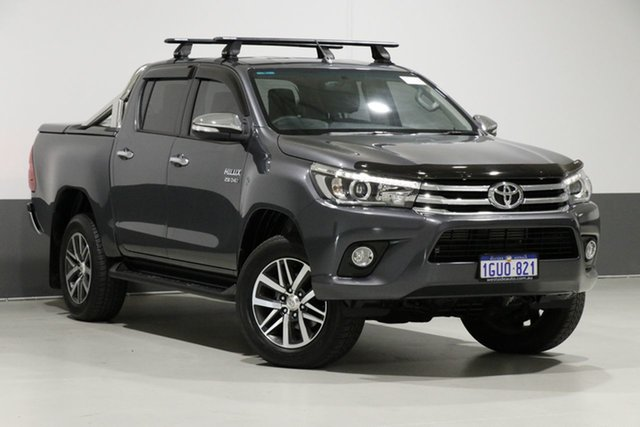 Used Toyota Hilux GUN126R MY17 SR5 (4x4), 2017 Toyota Hilux GUN126R MY17 SR5 (4x4) Graphite 6 Speed Automatic Dual Cab Utility