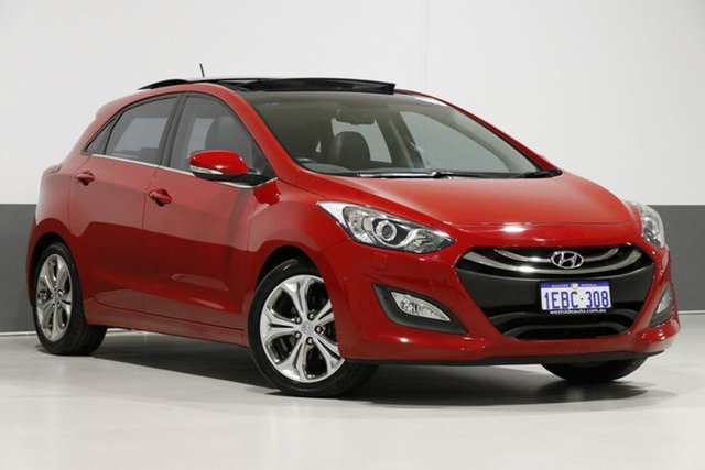 Used Hyundai i30 GD Premium, 2012 Hyundai i30 GD Premium Red 6 Speed Automatic Hatchback