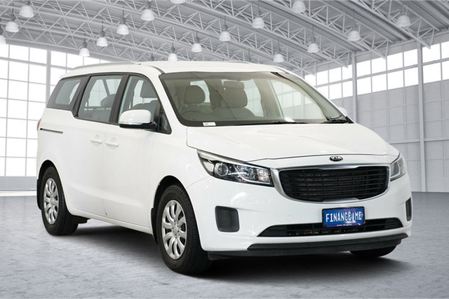 Used Kia Carnival YP MY16 S, 2015 Kia Carnival YP MY16 S Clear White 6 Speed Sports Automatic Wagon
