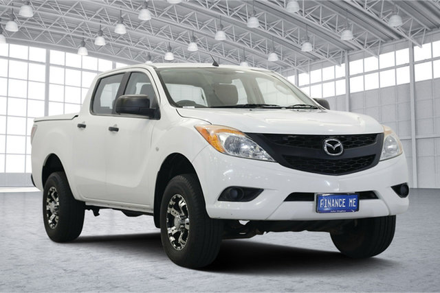 Used Mazda BT-50 UP0YF1 XT 4x2 Hi-Rider, 2012 Mazda BT-50 UP0YF1 XT 4x2 Hi-Rider White 6 Speed Manual Utility
