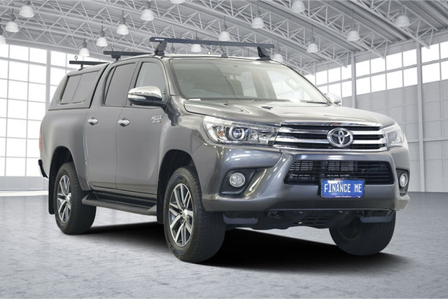 Used Toyota Hilux GUN126R SR5 Double Cab, 2016 Toyota Hilux GUN126R SR5 Double Cab Grey 6 Speed Sports Automatic Utility