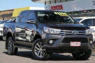 2015 Toyota Hilux GUN126R SR5 Double Cab Graphite 6 Speed Sports Automatic Utility.