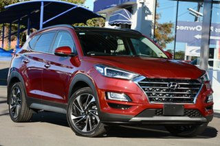 2020 Hyundai Tucson TL3 MY21 Highlander AWD Crimson Red 8 Speed Sports Automatic Wagon.