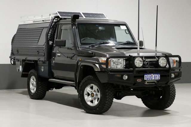Used Toyota Landcruiser VDJ79R MY12 Update GXL (4x4), 2012 Toyota Landcruiser VDJ79R MY12 Update GXL (4x4) Graphite 5 Speed Manual Cab Chassis