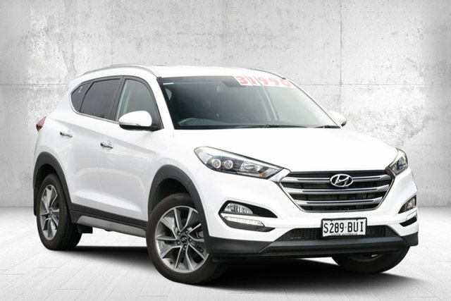 Used Hyundai Tucson TL2 MY18 Elite D-CT AWD, 2017 Hyundai Tucson TL2 MY18 Elite D-CT AWD Pure White 7 Speed Sports Automatic Dual Clutch Wagon