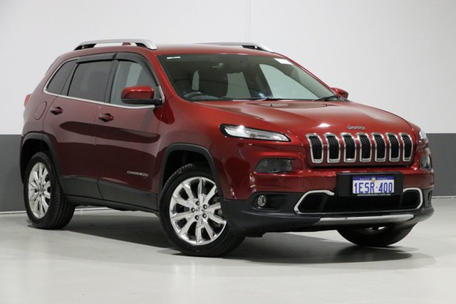 Used Jeep Cherokee KL MY15 Limited (4x4), 2015 Jeep Cherokee KL MY15 Limited (4x4) Red 9 Speed Automatic Wagon