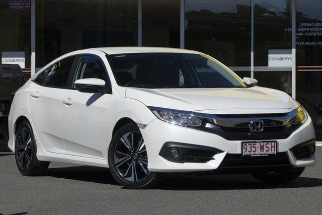 Used Honda Civic 10th Gen MY16 VTi-L, 2016 Honda Civic 10th Gen MY16 VTi-L White Orchid 1 Speed Constant Variable Sedan