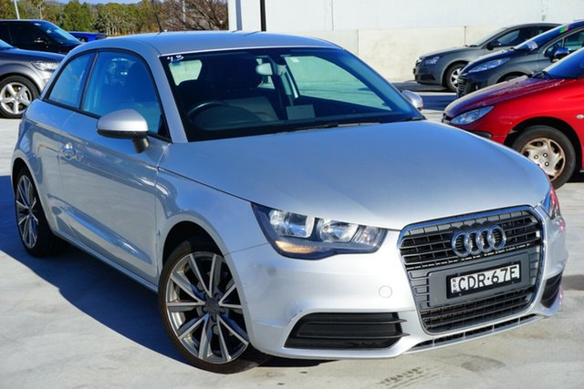 Used Audi A1 8X MY12 Attraction, 2011 Audi A1 8X MY12 Attraction Silver 6 Speed Manual Hatchback