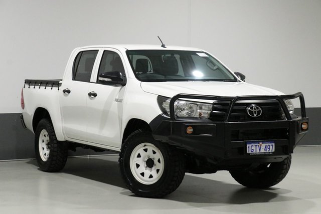 Used Toyota Hilux GUN125R Workmate (4x4), 2015 Toyota Hilux GUN125R Workmate (4x4) White 6 Speed Manual Dual Cab Utility