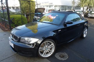 2008 BMW 1 Series E88 135i Steptronic Black 6 Speed Sports Automatic Convertible.
