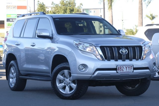 Used Toyota Landcruiser Prado KDJ150R MY14 GXL, 2014 Toyota Landcruiser Prado KDJ150R MY14 GXL Silver 5 Speed Sports Automatic Wagon