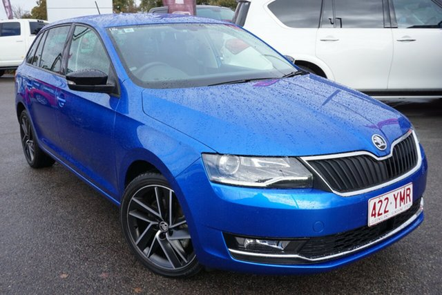 Used Skoda Rapid NH MY19 Spaceback DSG, 2018 Skoda Rapid NH MY19 Spaceback DSG Blue 7 Speed Sports Automatic Dual Clutch Hatchback