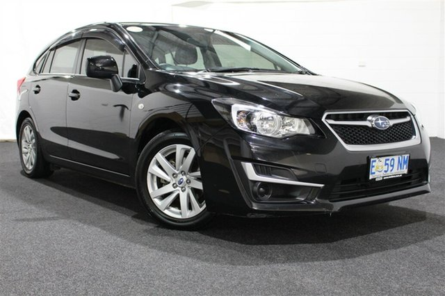 Used Subaru Impreza G4 MY14 2.0i Lineartronic AWD, 2015 Subaru Impreza G4 MY14 2.0i Lineartronic AWD Black/Grey 6 Speed Constant Variable Hatchback