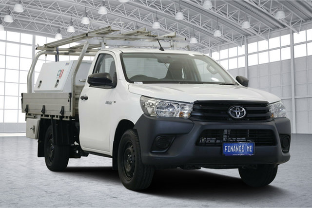 Used Toyota Hilux TGN121R Workmate 4x2, 2015 Toyota Hilux TGN121R Workmate 4x2 White 6 Speed Sports Automatic Cab Chassis