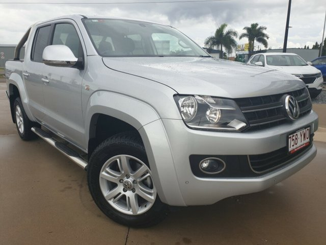 Used Volkswagen Amarok 2H MY16 TDI420 4Motion Perm Highline, 2015 Volkswagen Amarok 2H MY16 TDI420 4Motion Perm Highline Silver 8 Speed Automatic Utility