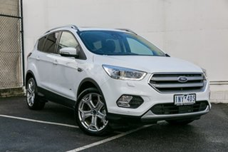 2018 Ford Escape ZG 2019.25MY Titanium PwrShift AWD White 6 Speed Sports Automatic Dual Clutch Wagon.