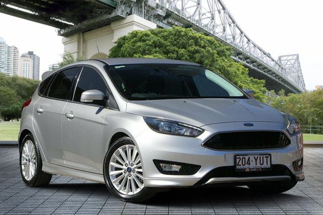 Used Ford Focus LZ Sport, 2016 Ford Focus LZ Sport Silver 6 Speed Automatic Hatchback