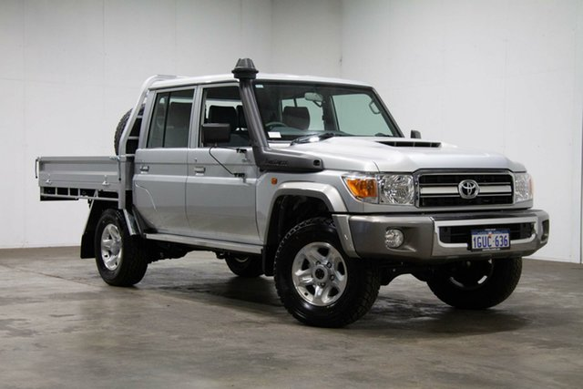 Used Toyota Landcruiser VDJ79R GXL Double Cab, 2019 Toyota Landcruiser VDJ79R GXL Double Cab Silver 5 Speed Manual Cab Chassis