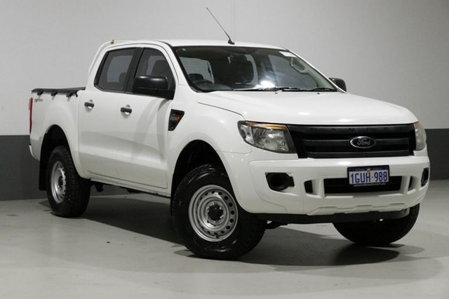 Used Ford Ranger PX XL 2.2 Hi-Rider (4x2), 2012 Ford Ranger PX XL 2.2 Hi-Rider (4x2) White 6 Speed Automatic Crew Cab Pickup