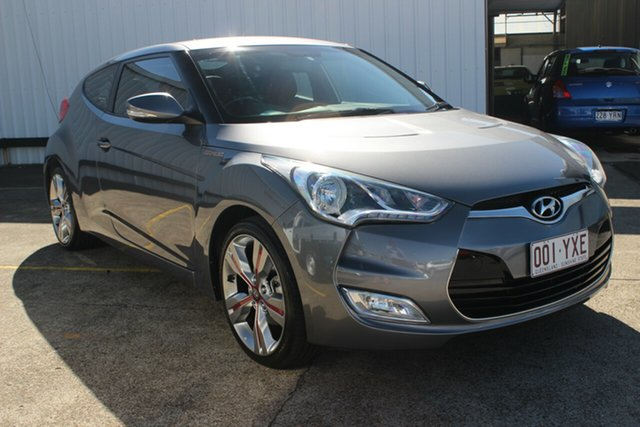 Used Hyundai Veloster FS3 Street Coupe D-CT, 2013 Hyundai Veloster FS3 Street Coupe D-CT Grey 6 Speed Sports Automatic Dual Clutch Hatchback