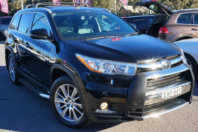 Used Toyota Kluger GSU55R Grande AWD, 2015 Toyota Kluger GSU55R Grande AWD Black 6 Speed Sports Automatic Wagon