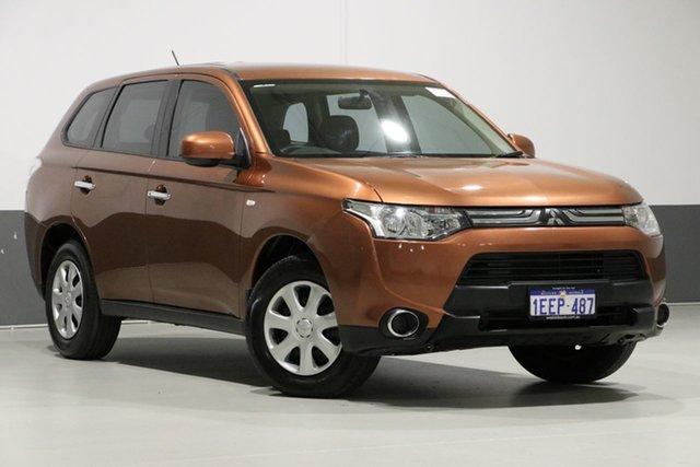 Used Mitsubishi Outlander ZJ ES (4x4), 2013 Mitsubishi Outlander ZJ ES (4x4) Brown Continuous Variable Wagon
