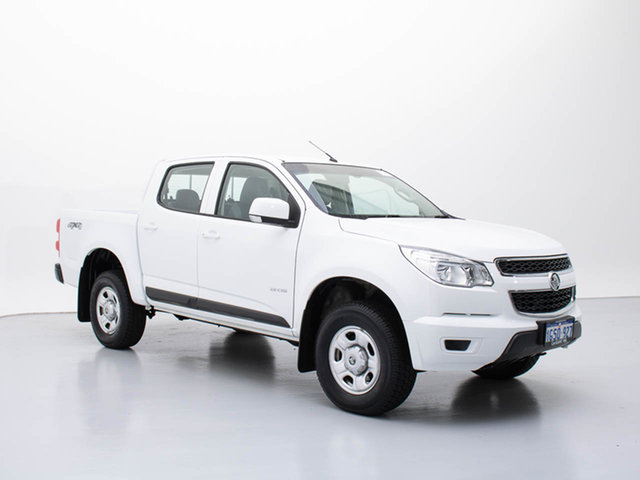 Used Holden Colorado RG LX (4x4), 2013 Holden Colorado RG LX (4x4) White 5 Speed Manual Crew Cab Pickup