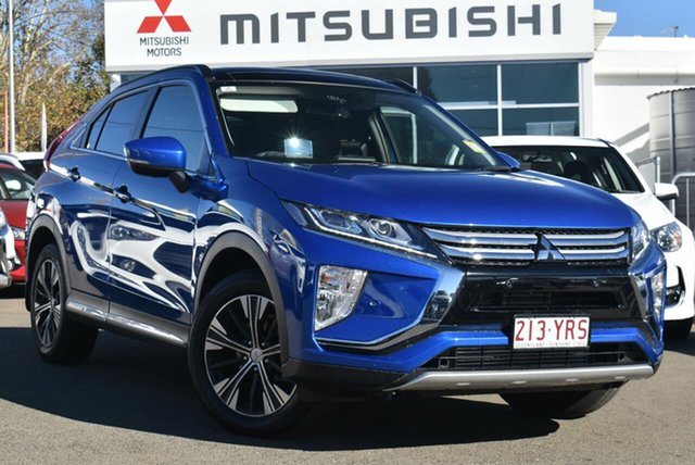 Demo Mitsubishi Eclipse Cross YA MY18 Exceed AWD, 2018 Mitsubishi Eclipse Cross YA MY18 Exceed AWD Lightning Blue 8 Speed Constant Variable Wagon