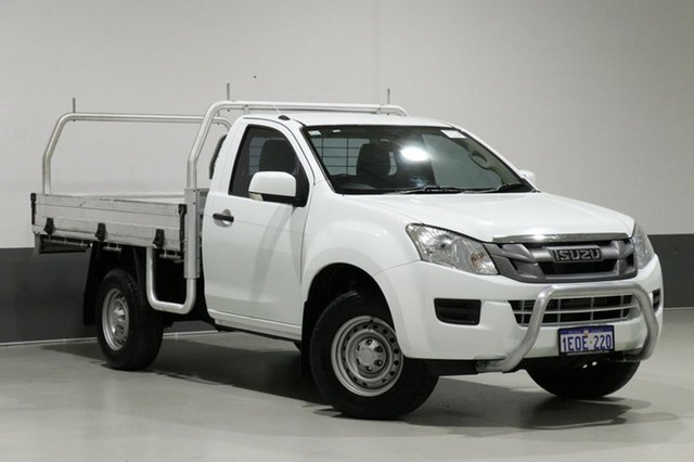 Used Isuzu D-MAX TF MY14 SX (4x4), 2014 Isuzu D-MAX TF MY14 SX (4x4) White 5 Speed Manual Cab Chassis