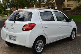 2013 Mitsubishi Mirage LA MY14 ES White 1 Speed Constant Variable Hatchback