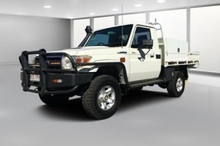 2013 Toyota Landcruiser VDJ79R MY12 Update GXL (4x4) French Vanilla 5 Speed Manual Cab Chassis